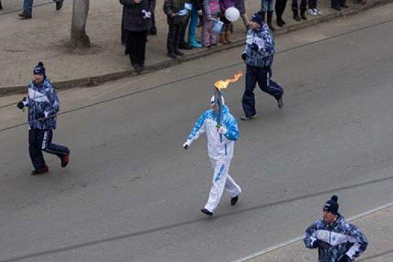 Паралимпийский огонь в Твери