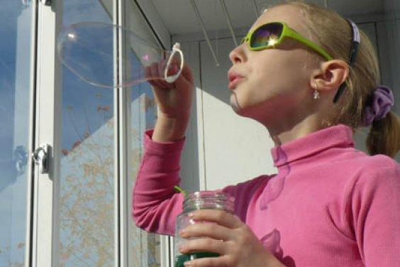 Мыльные пузыри и положительные эмоции