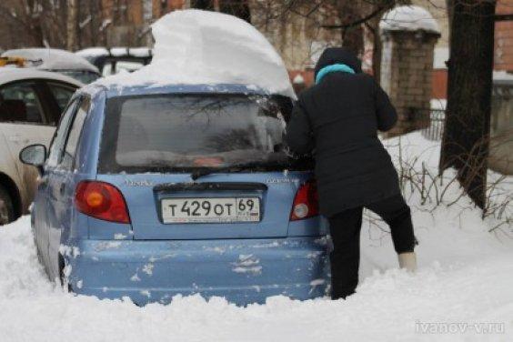 Снегопад в Твери 30.11.2012