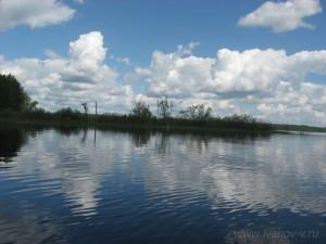 красивые виды на озере Волго
