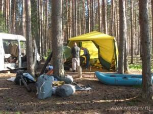 готовимся к рыбалке на озере Волго