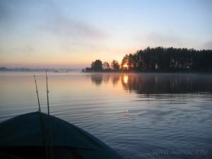 утром на озере Волго