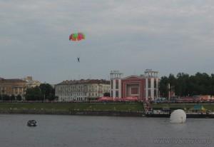 приземление парашютистов на воду