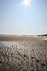 Вид на острове при отливе похож на инопланетный