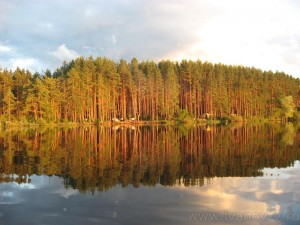 Озеро Волго. Вид на нашу стоянку перед закатом.