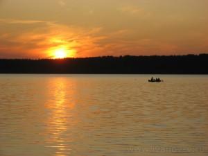 Озеро Волго. Перед закатом солнца.