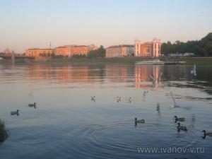 Набережная реки Волги в Твери