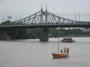 Старый Волжский мост в Твери