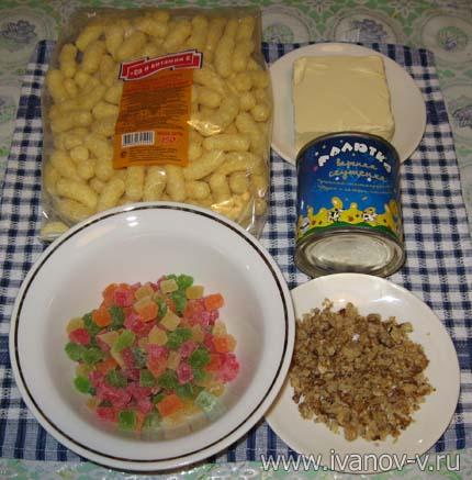 Компоненты для десерта из детства