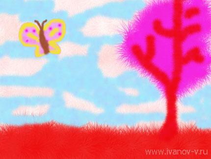 рисунок «Мягкое лето»