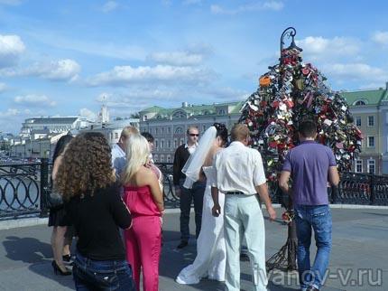Лужков мост и Дерево любви