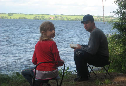 семейная поездка летом на озеро Волго