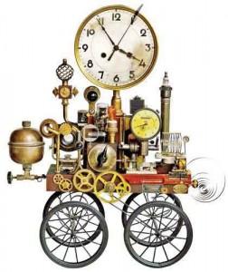 Часы коляска
