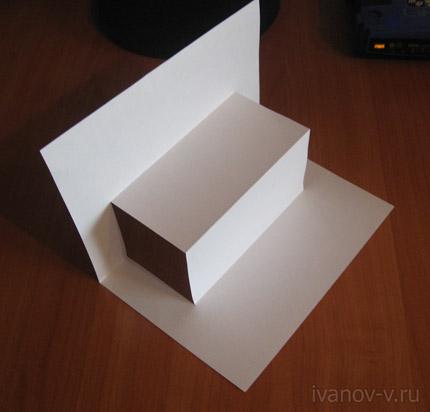 конструкция из листа бумаги