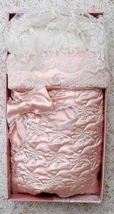 розовая лента для новорожденных