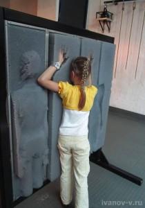 контактная стена в Экспериментаниуме