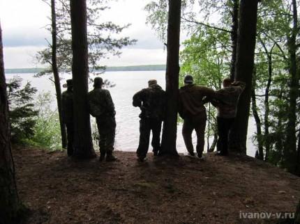 так встречают рыбаков на озере Волго
