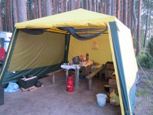 шатер от ветра с озера Волго