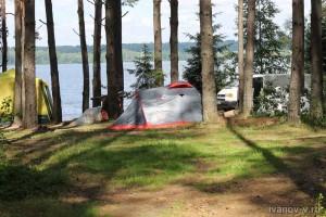наша стоянка на озере Волго