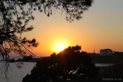 Заметки о Турции вечернее солнце