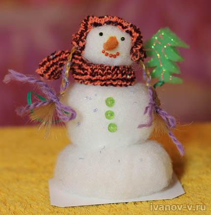 Снеговик в подарок на Новый год