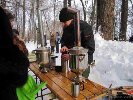 """Фирменный """"ботанический"""" чай из самовара в ботаническом саду Тверского госуниверситета"""