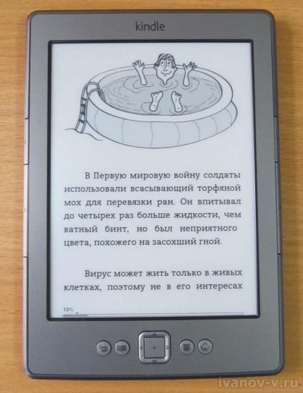 выбор электронной книжки Amazon Kindle