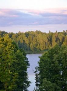 красивое озеро Чистое
