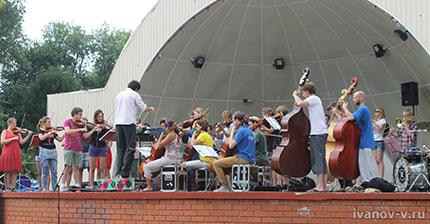 Уличный оркестр «Ricciotti Ensemble» в Твери
