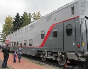 Двухэтажный вагон производства Тверского вагоностроительного завода