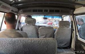 в маршрутке в Хургаде