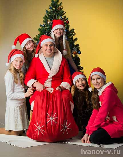 Дед Мороз на фотосессии