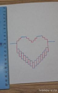 чертеж для изготовления объемной валентинки