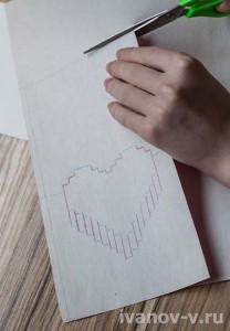 процесс изготовления объемной валентинки