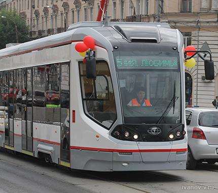 новые трамваи в день города Твери 2015