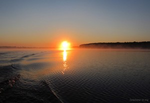 Солнце над озером Волго