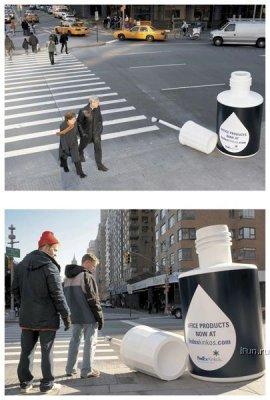 Штрих на пешеходном переходе