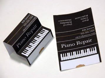 Визитки – ремонт и настройка пианино