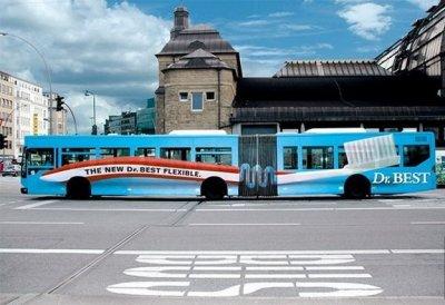 Реклама на транспорте: Новая гибкость зубной щетки<br />