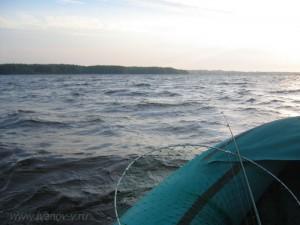 Волны на озере Волго