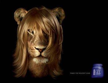 Реклама средства для укладки волос