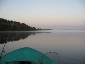Озеро Волго. Утренний туман.
