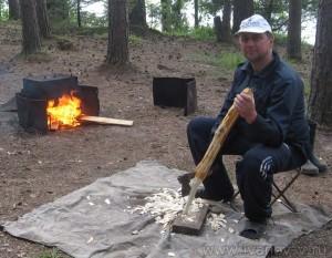 Подготовка ольховой стружки