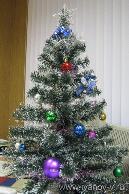 украшенная новогодняя елочка