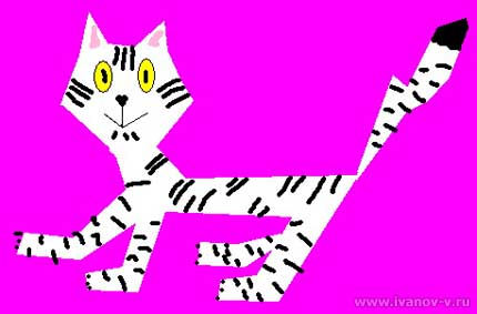 детский рисунок «Тигрёнок в год белого тигра»