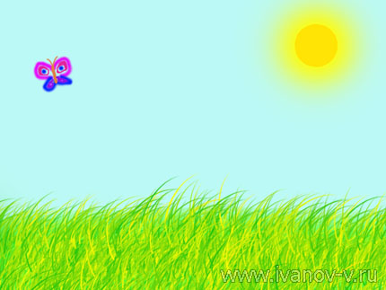 рисунок «Теплое лето»
