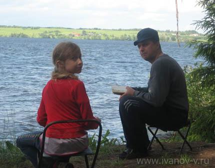 на озере Волго