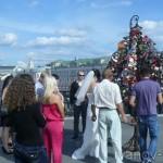 Традиция «замок на мосту в день свадьбы»