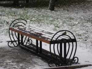 первый снег в Твери