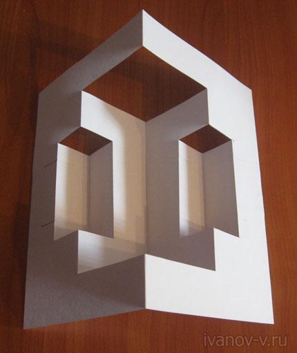 конструкция из бумаги